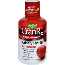 Natures Way Cran Rx - Urinary Health - Liquid Cranberry - Extra Strength- 16 oz