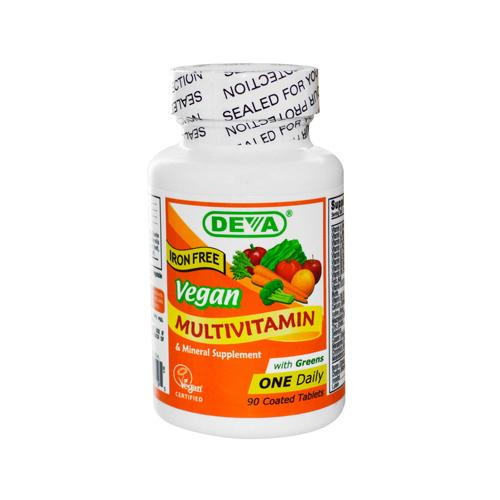 Deva Vegan Multivitamin and Mineral Supplement Iron Free (1x90 Tablets)