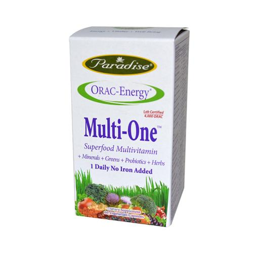 Paradise Herbs Orac-Energy Multi without Iron (60 Veg Caps)