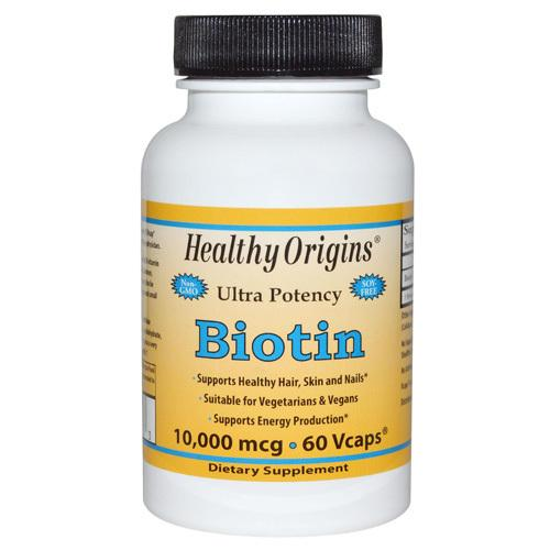 Healthy Origins Biotin 10,000 mcg (60 Veg Caps)