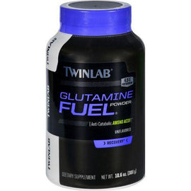 Twinlab Glutamine Fuel  Powder  Unflavored  10.6 oz