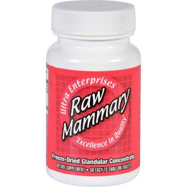 Ultra Glandulars Mammary  Raw  60 Tablets