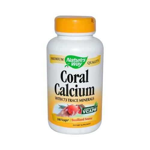 Nature's Way Coral Calcium with 73 Trace Minerals (1x180 Vcaps)