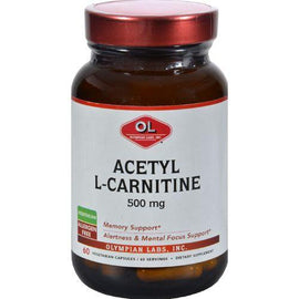 Olympian Labs Acetyl L Carnitine  500 mg  60 Vegetarian Capsules