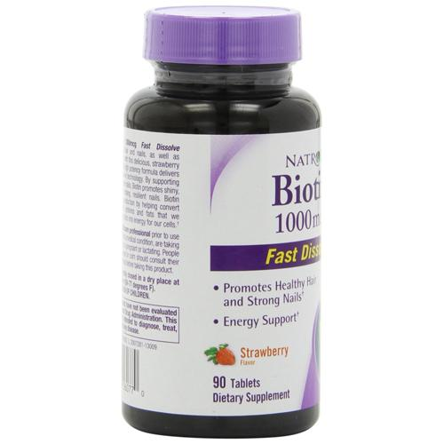 Natrol Biotin Fast Dissolve Strawberry 1000 mcg (1x90 Tablets)