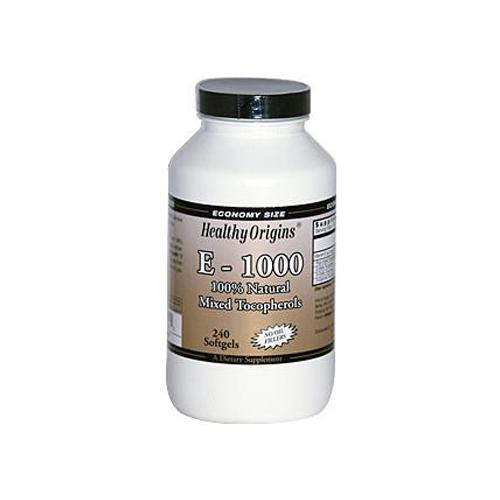 Healthy Origins E-1000 1000 IU 240 Softgels