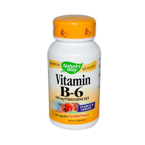 Nature's Way Vitamin B-6 100 mg (100 Capsules)