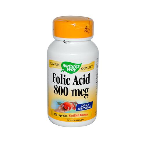 Nature's Way Folic Acid 800 mcg (100 Capsules)