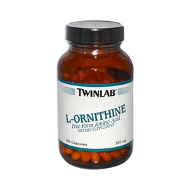 Twinlab L-Ornithine 500 mg (100 Capsules)