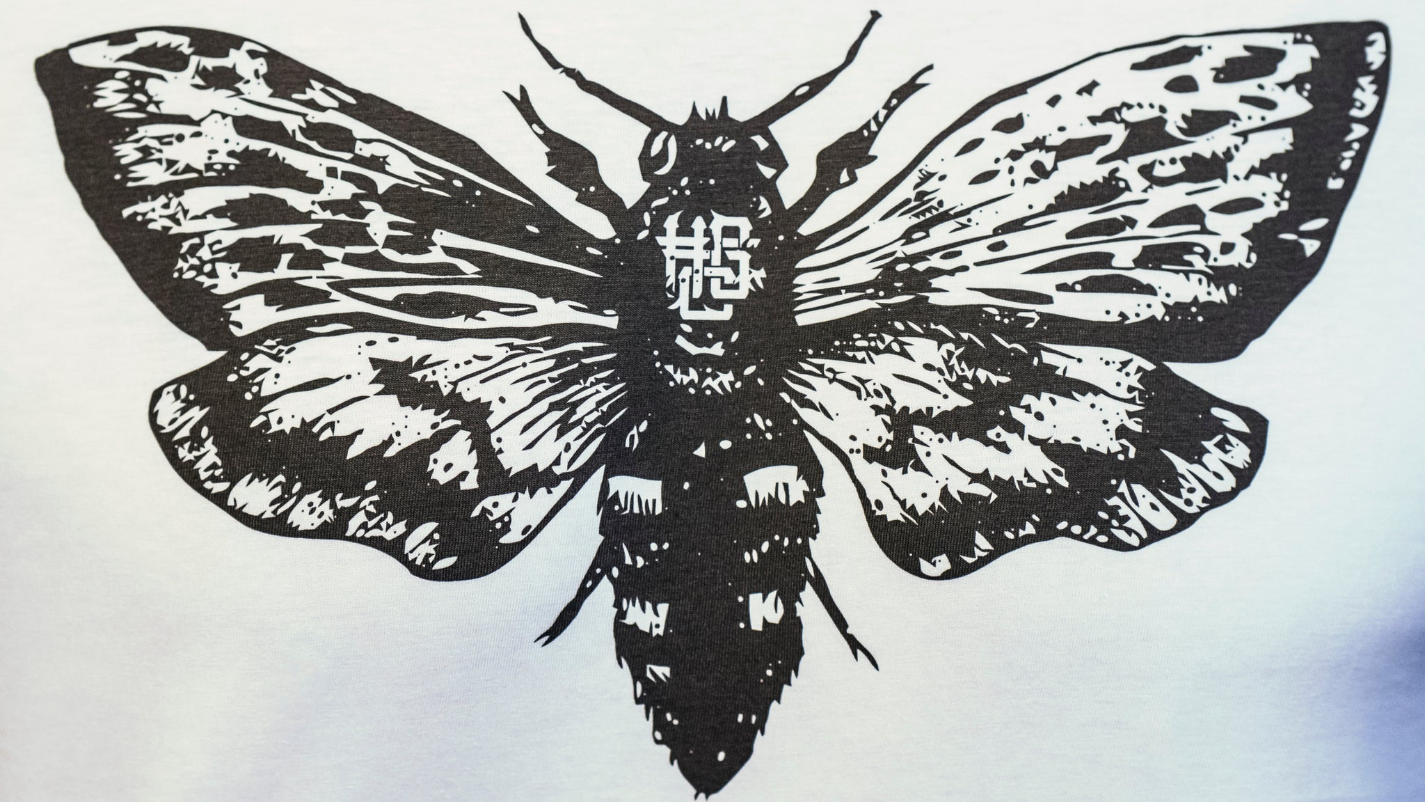 HGC Butterfly Tee - Black on White