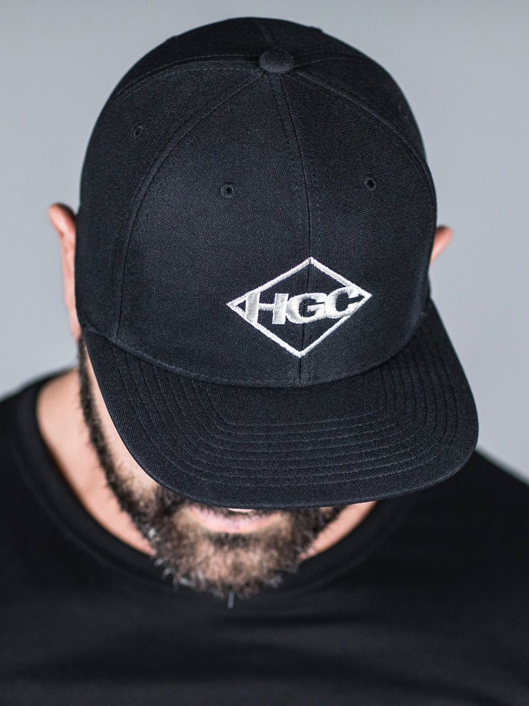 HGC Diamond Cap - White on Black