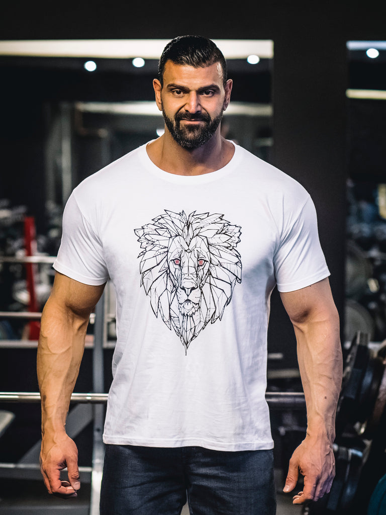 HGC Lion Tee - Black on White