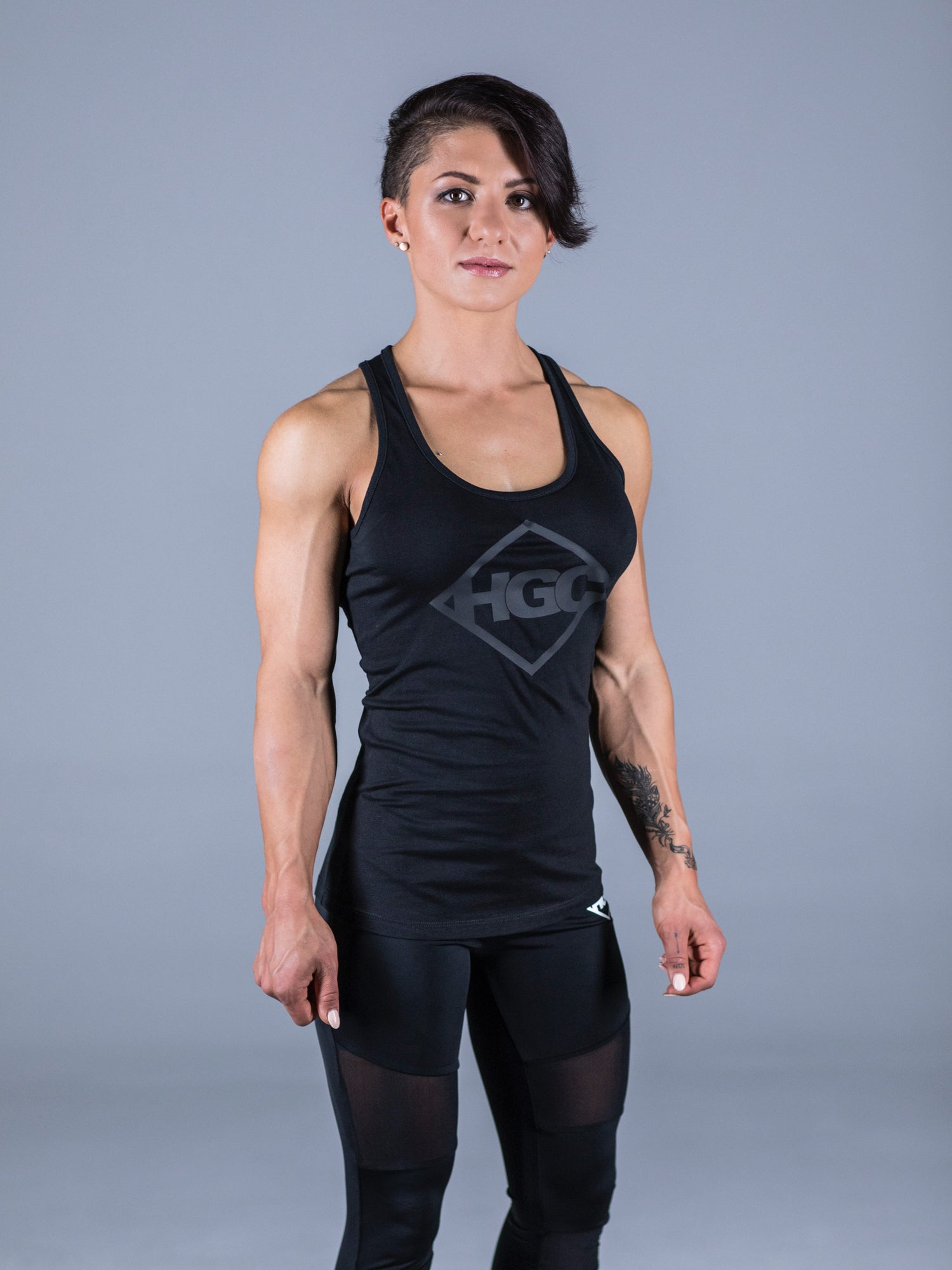 HGC Diamond Tank Top - Black on Black