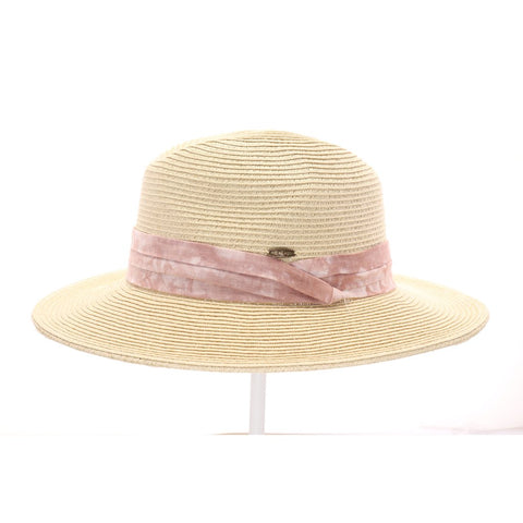 CC Tie-Dye Band Panama Straw Hat