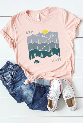 Happy Camper Mountain T-shirt