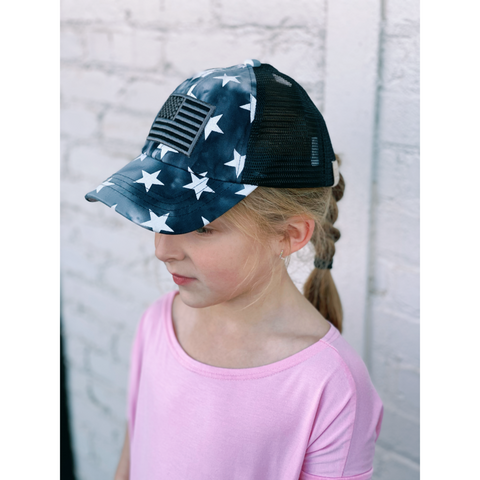 Kids CC Tie-Dye Star Flag Hat