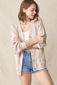 Raglan Knit Cardigan with Buttons (More Colors)