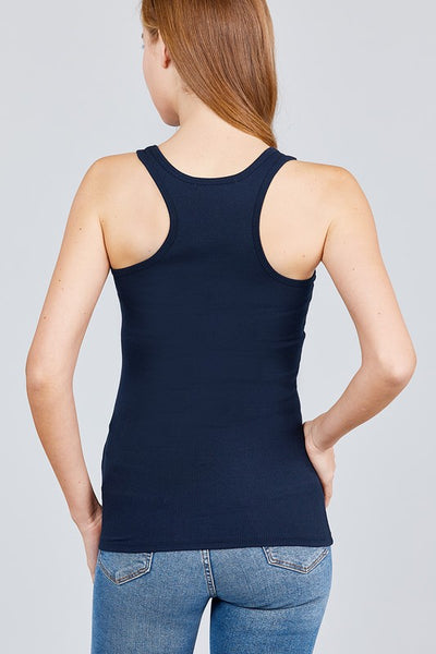 Ribbed Racerback Tank (More Colors Available)