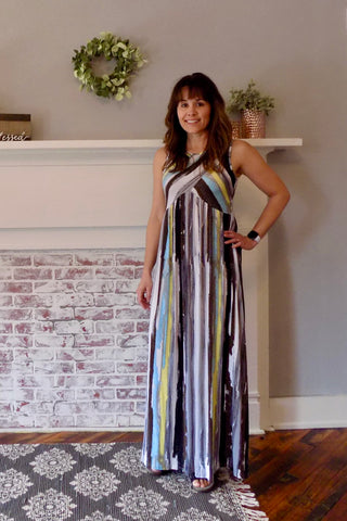 Springtime Cross Top Maxi Dress