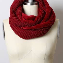 Faux Sherpa Lined Infinity Scarf (More Colors)