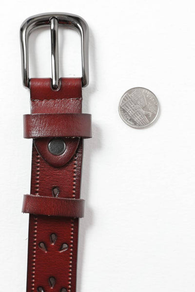 Petal Punch Out Leather Belt (More Colors)