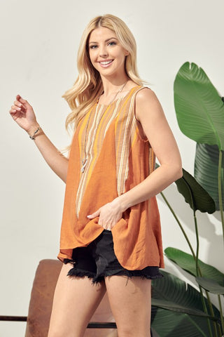 Sunbaked Mixed Flare Top