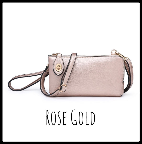 Twist Lock Cross Body Clutch