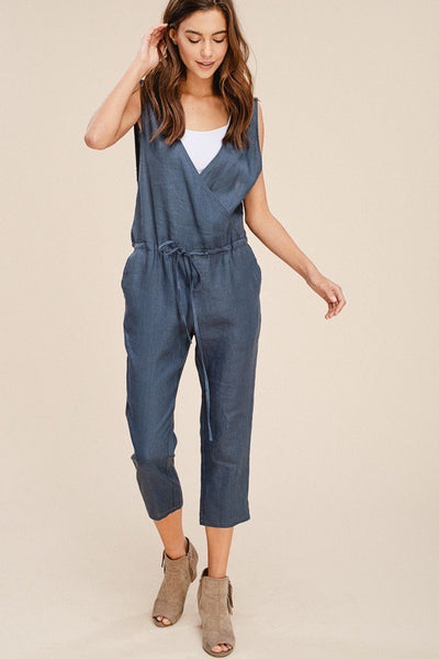 Linen V-Neck Jumpsuit