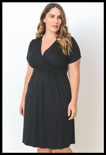Curvy Black Cross Dress