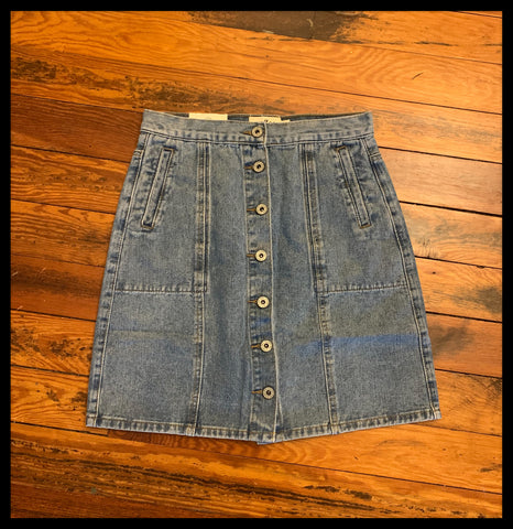 Button Down Denim Skirt (More Colors)