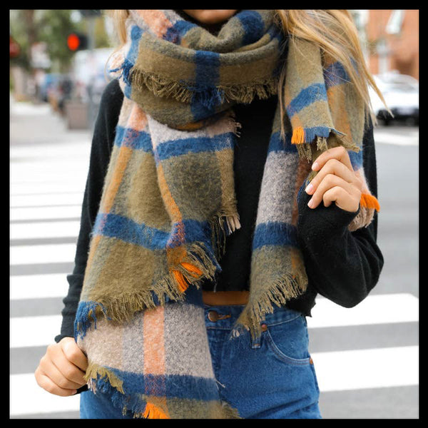 Asymmetrical Scarf (More Colors Available)