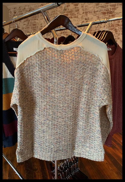 Cream Cut & Sew Sweater