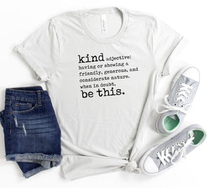 Kind adjective T-shirt