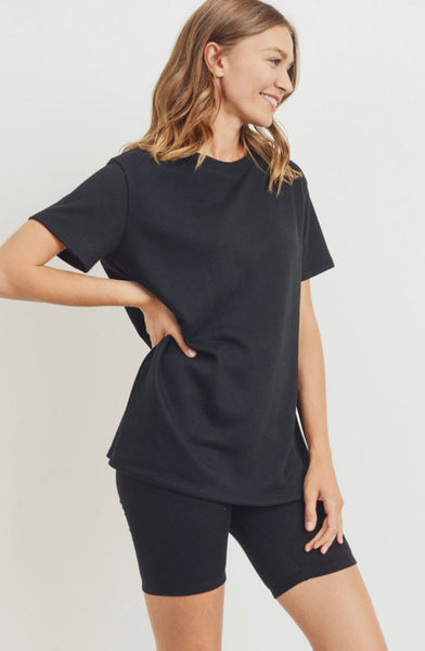 Terry Cloth Short Sleeve Top (More Colors)