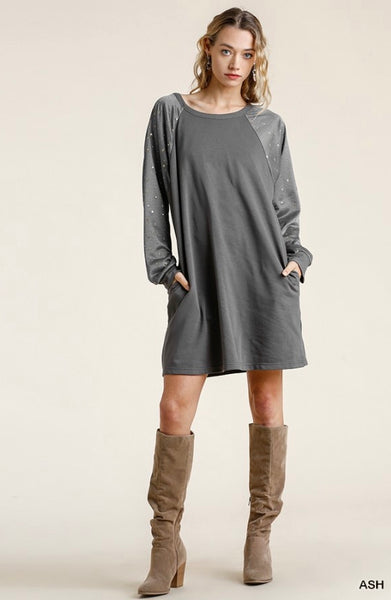 Gold Star Sleeve Dress (More Colors)