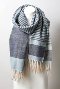Contemporary Stripe Tassel Scarf (More Colors)
