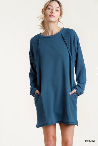 Reglan Sleeve Pocket Dress (More Colors)