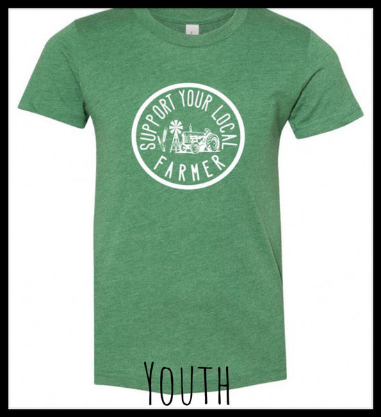 Kid Support Your Local Farmer Tee (More Colors Available)