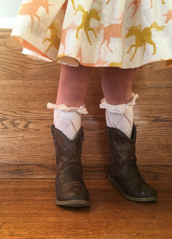 Toddler Lace Boot Sock