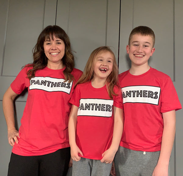 Kid Panthers Outline T-shirt