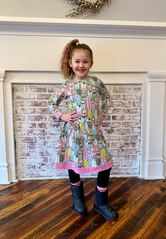 Kid Feather Dot Dress