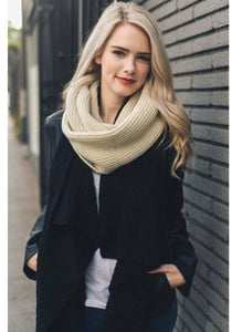 Rib Knit Infinity Scarf (More Colors Available)