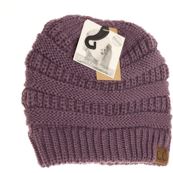 Criss-Cross Knit Beanie (More Colors)