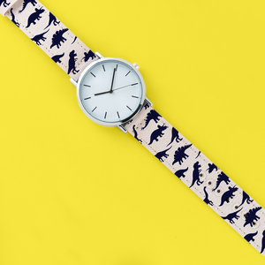 A Unisex 40mm Dinosaur Print Quartz Watch