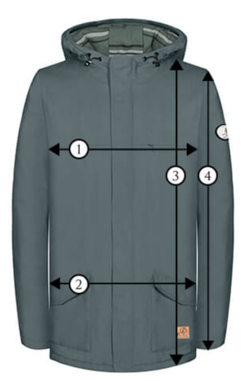 Bleed Clothing Mens Jacket Size Chart