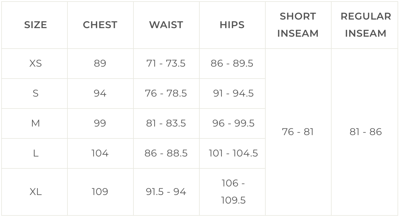 3rd Rock Clothing Mens Size Chart in CM