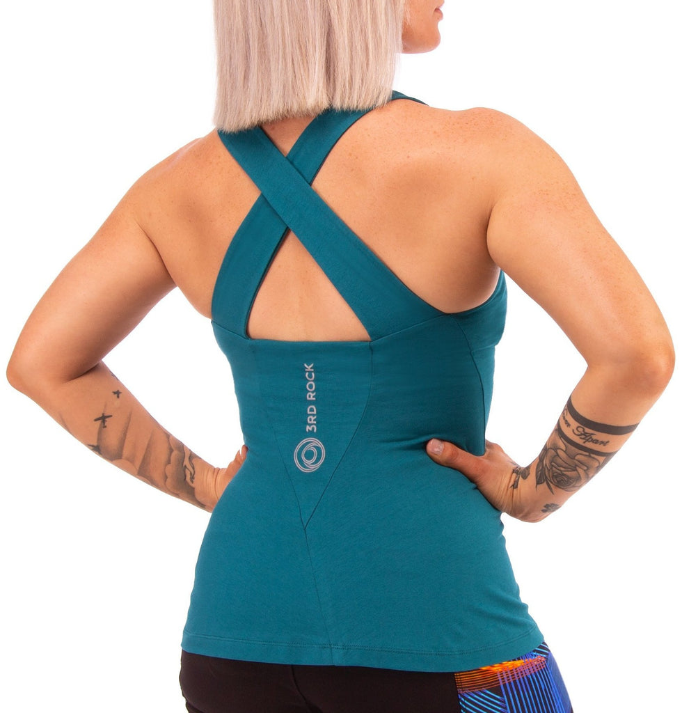 3rd Rock Clothing - Eclipse Organic Vest with Inbuilt Bra - Top
