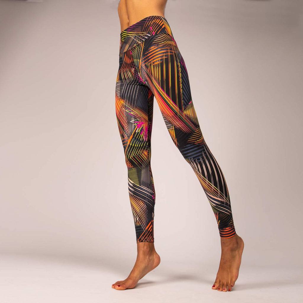 Titan Leggings - Ladies Funky Workout Leggings with Ankle Pocket - Flash
