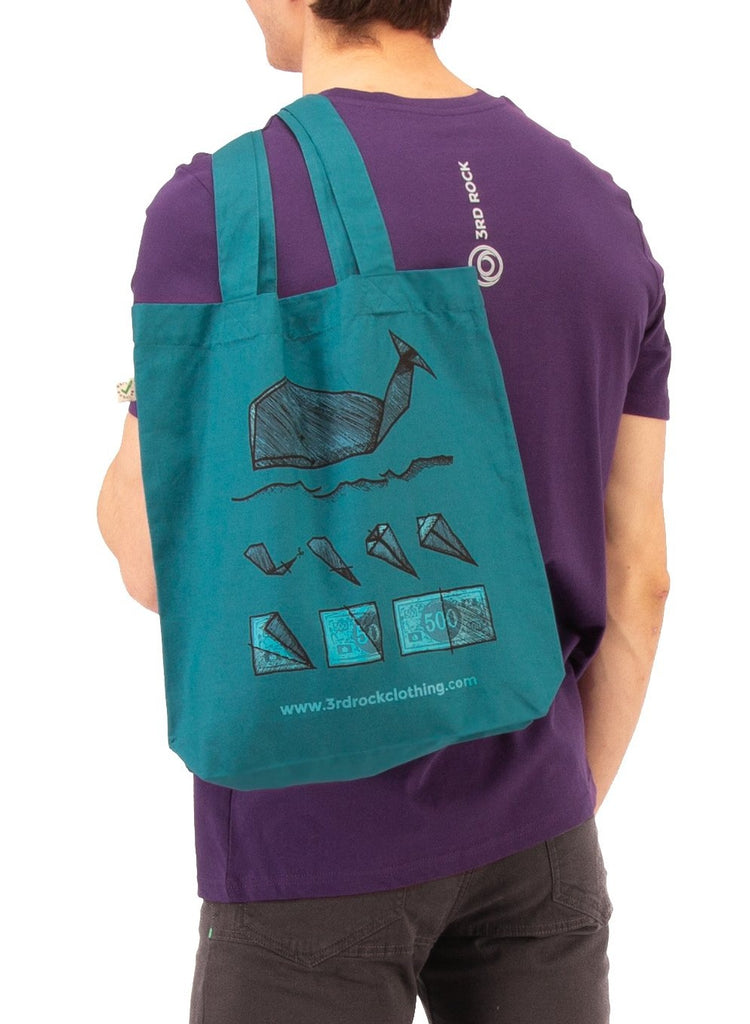 3rd Rock Clothing - Stop Whaling Organic Cotton Tote Bag - Accessories