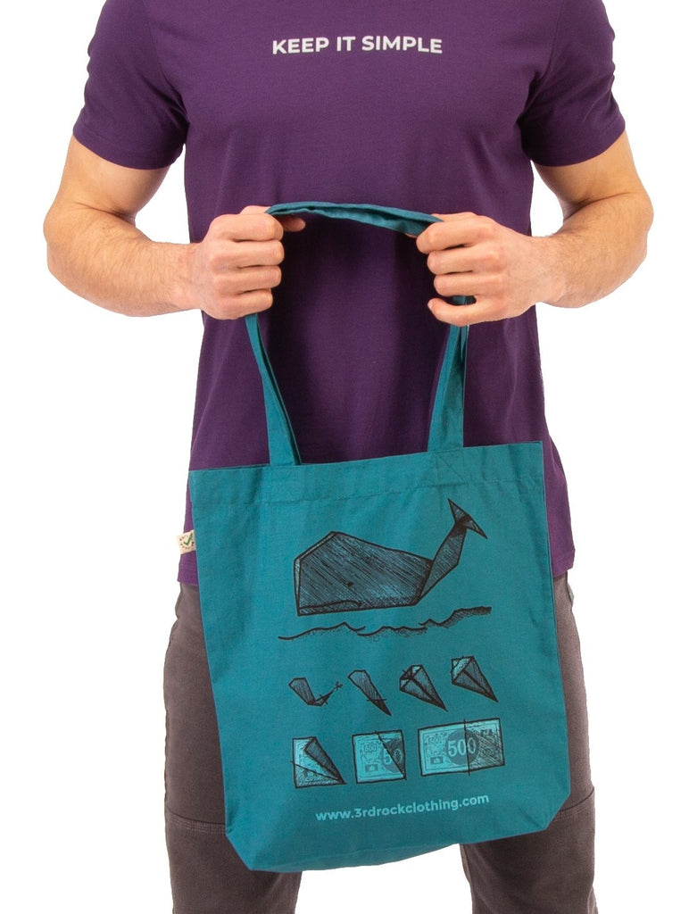 3rd Rock Clothing - Stop Whaling Organic Cotton Tote Bag